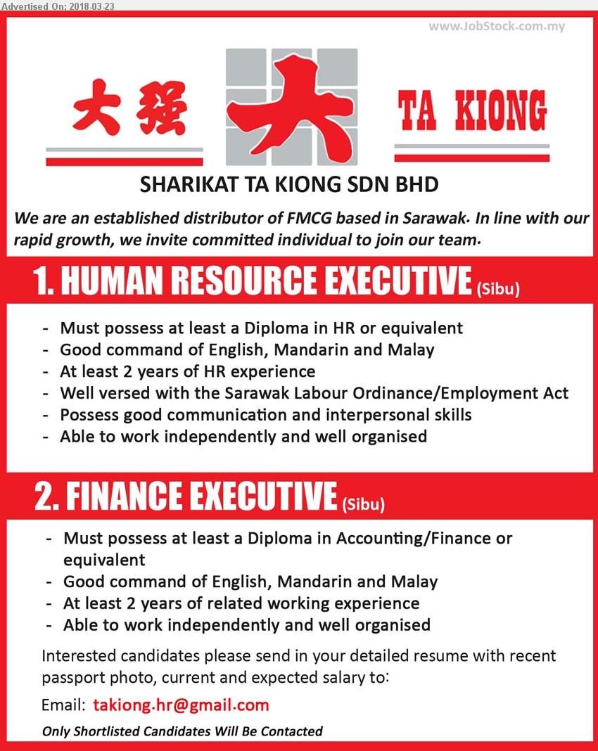 Advertisement Detail - SHARIKAT TA KIONG SDN BHD