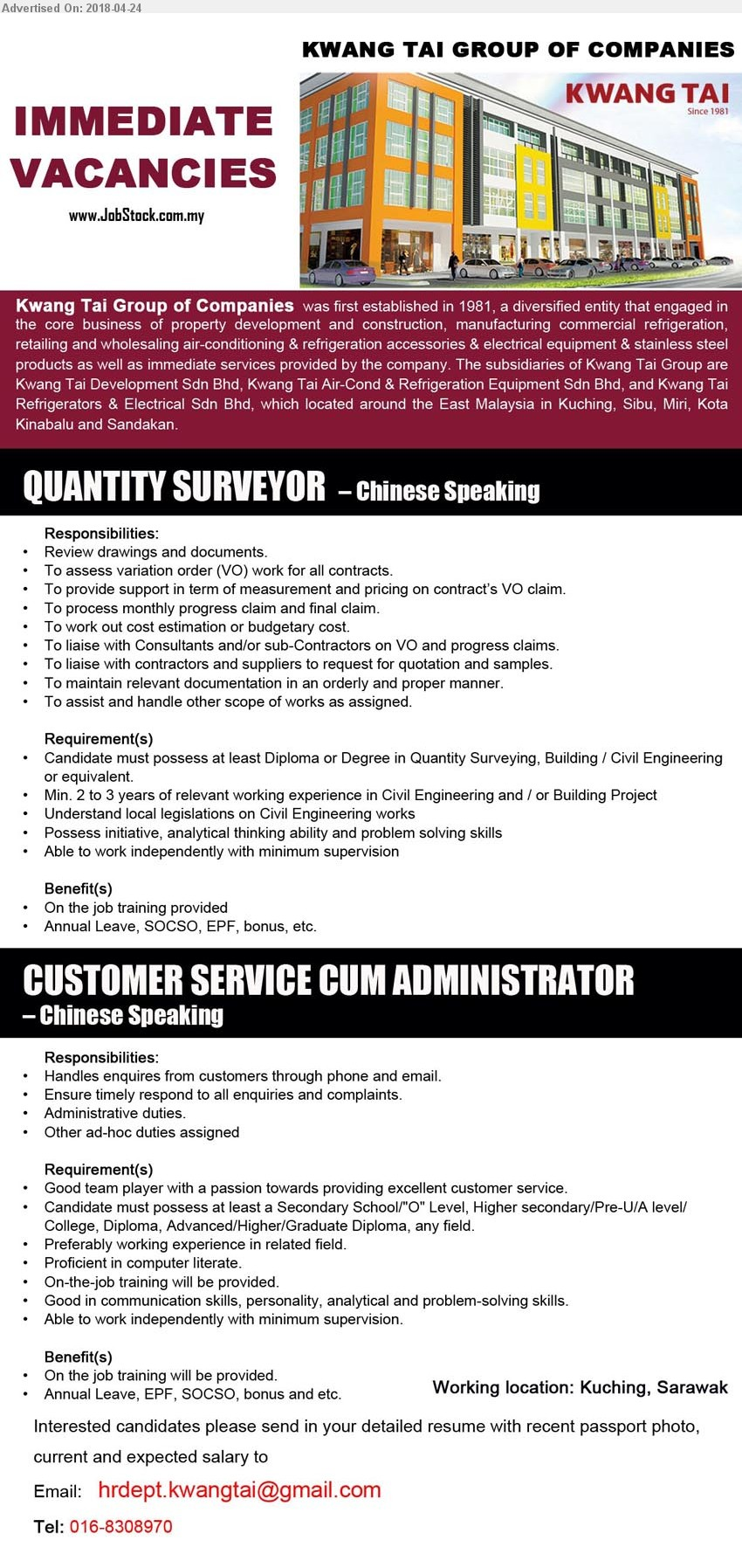 chinese speaking job